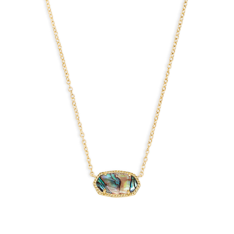 Kendra Scott Elisa Necklace in Gold & Abalone