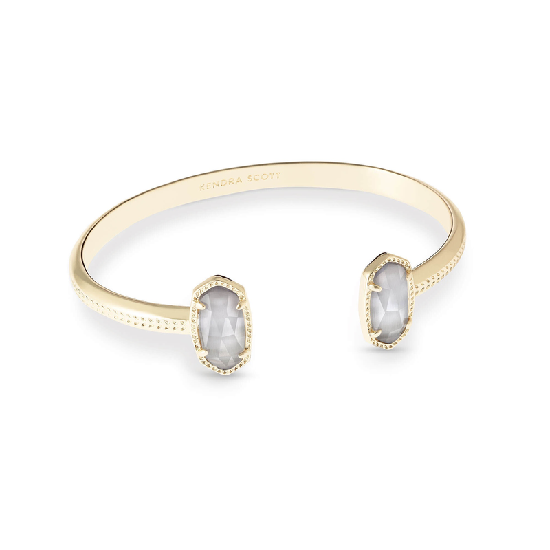 Kendra Scott Elton Bracelet in Gold Slate Cats Eye