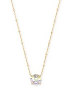 Kendra Scott Kendra Scott Jolie Short Pendant Gold Dichroic Glass