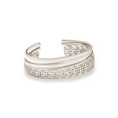 Kendra Scott Kendra Scott Tiana Silver Pinch Bracelet Set In Silver Filigree