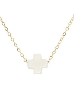 enewton enewton White Signature Cross Necklace
