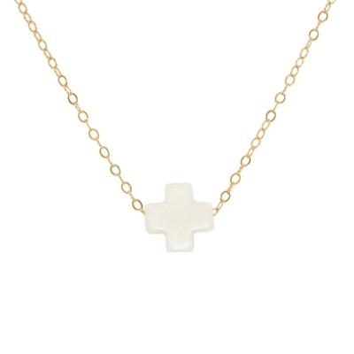 "Jewelry enewton 16"" Necklace Gold Signature Cross Off-White"