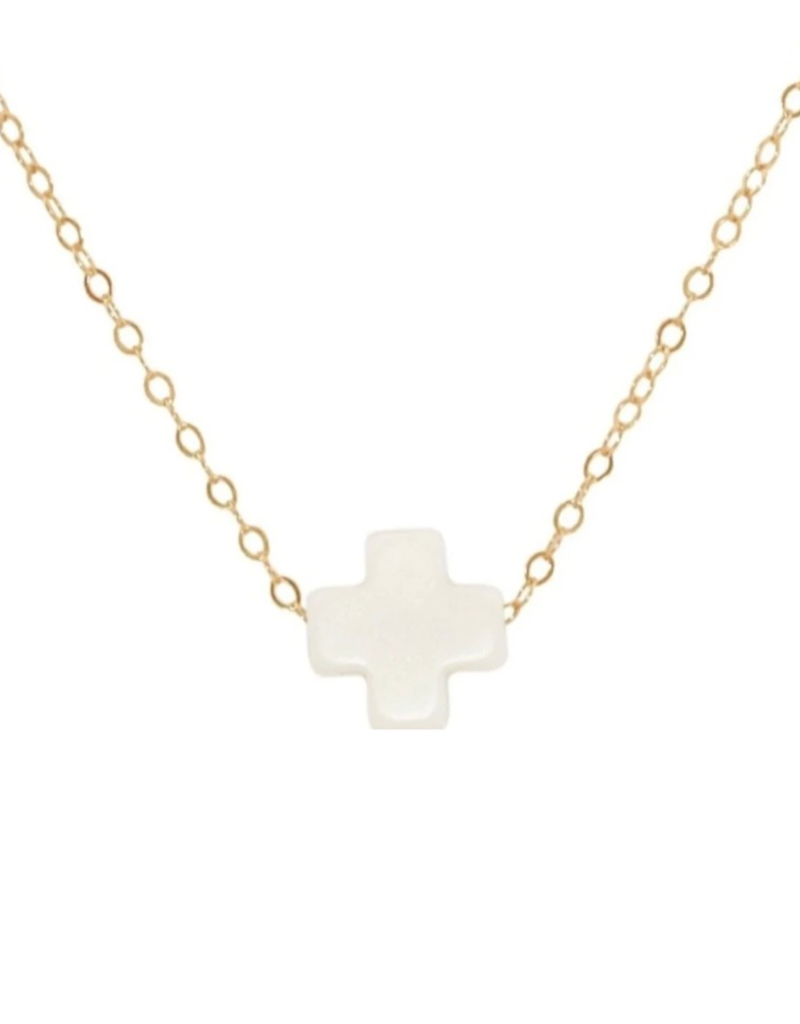 enewton enewton White Signature Cross Necklace