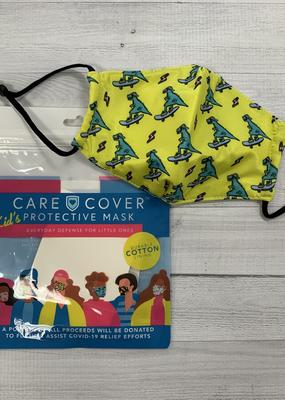 Care Cover Kid's Care Cover Mask - Skateboard Dinos