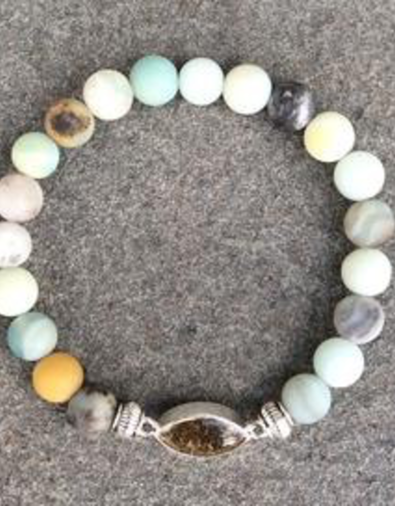 Jersey State Line Bracelet - Ocean City, Maryland/Matte Flower Amazonite
