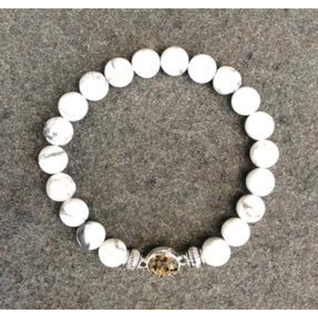Jersey State Line Jersey State Line - Sea Isle City, New Jersey/White Howlite