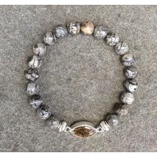 Jersey State Line Jersey State Line - Cape May, New Jersey/Gray Lace Agate
