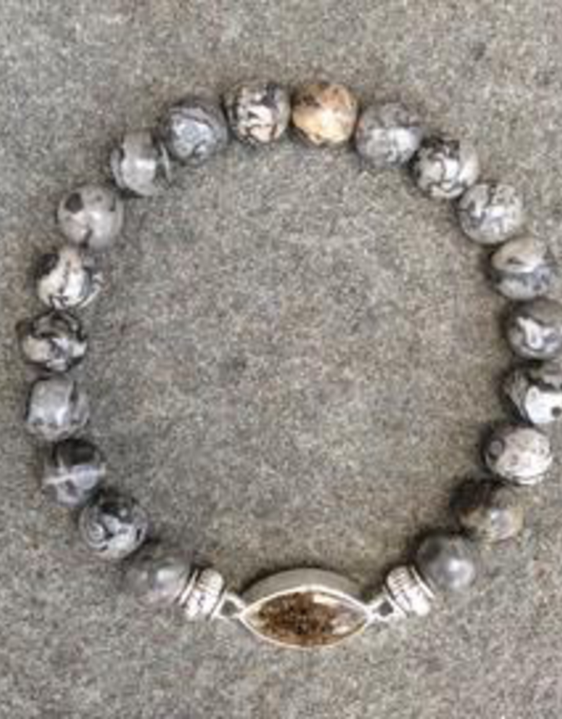 Jersey State Line - Cape May, New Jersey/Gray Lace Agate