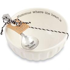 Mud Pie Hummus Bowl & Spoon Set