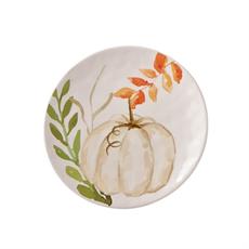 Mud Pie Small White Pumpkin Plate