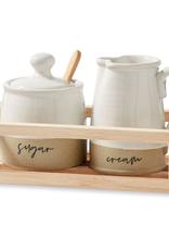 Mud Pie Stoneware Cream & Sugar Set