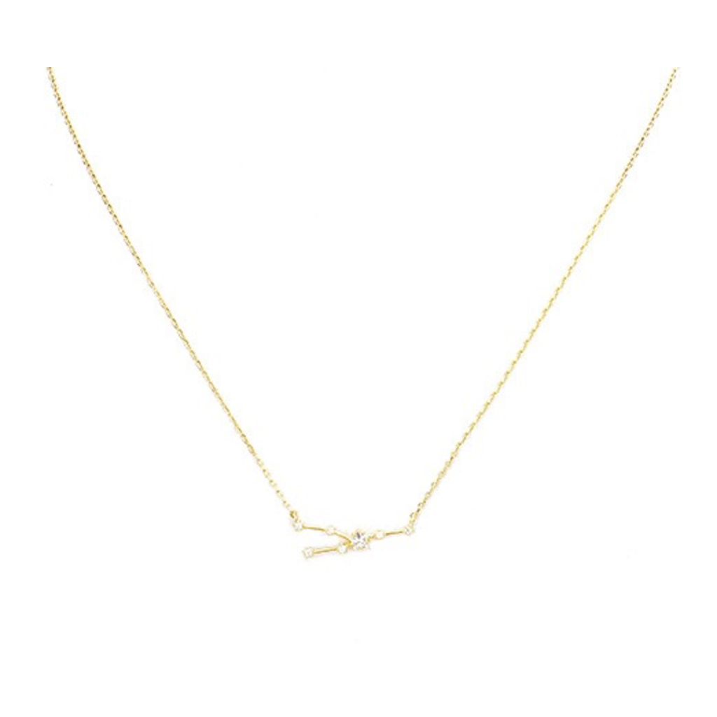 Initial Reaction Constellation Necklace - Taurus/Gold