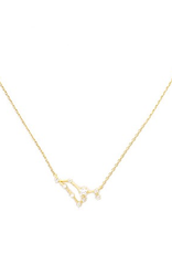 Initial Reaction Constellation Necklace - Leo/Gold