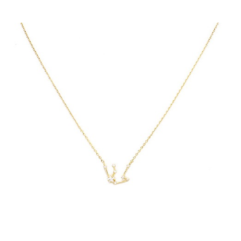 Initial Reaction Initial Reaction Constellation Necklace - Aquarius/Gold