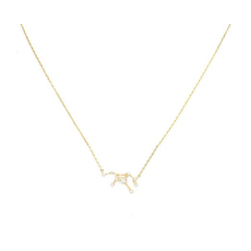 Initial Reaction Constellation Necklace - Virgo/Gold