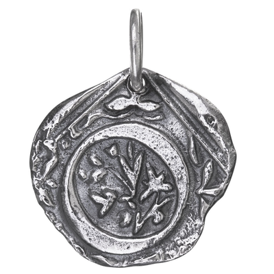 Waxing Poetic Waxing Poetic Square Insignia Charm- Silver- Letter O