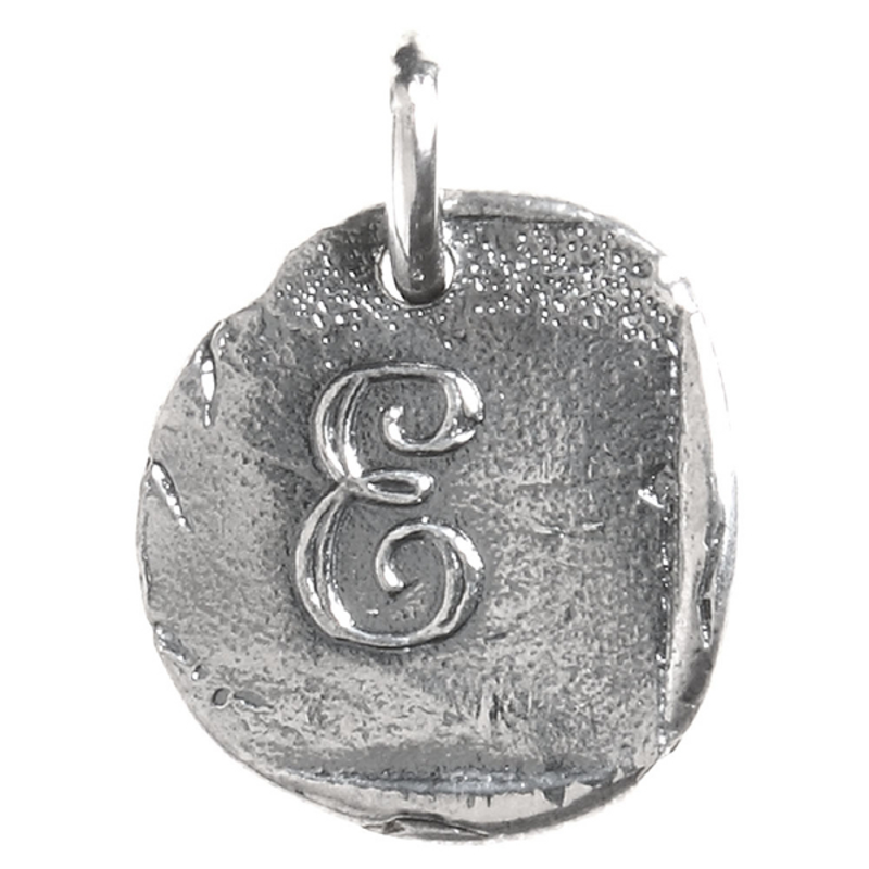 Waxing Poetic Waxing Poetic Baby Insignia Charm- Silver- Letter E