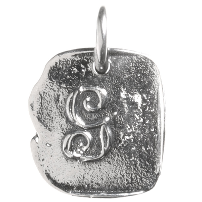 Waxing Poetic Waxing Poetic Baby Insignia Charm- Silver- Letter G