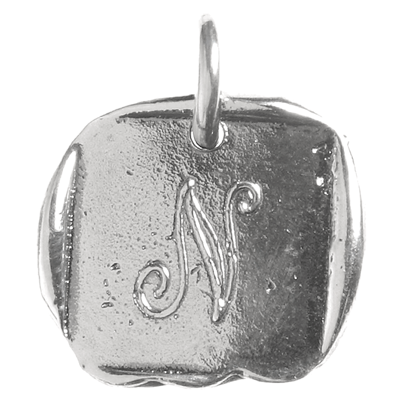 Waxing Poetic Waxing Poetic Baby Insignia Charm- Silver- Letter N