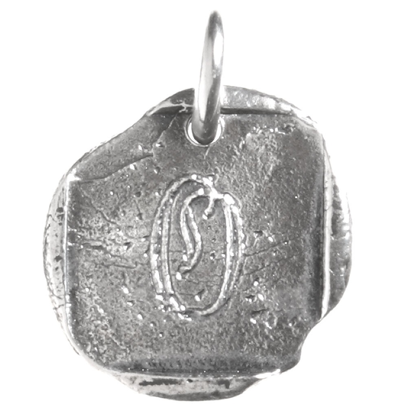 Waxing Poetic Waxing Poetic Baby Insignia Charm- Silver- Letter O