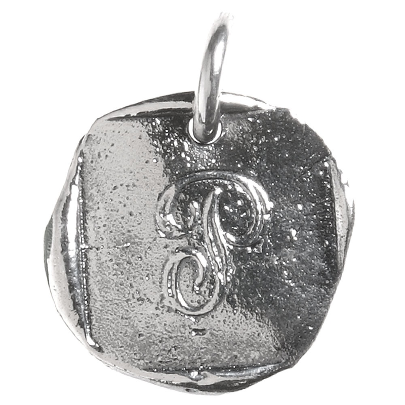Waxing Poetic Waxing Poetic Baby Insignia Charm- Silver- Letter P