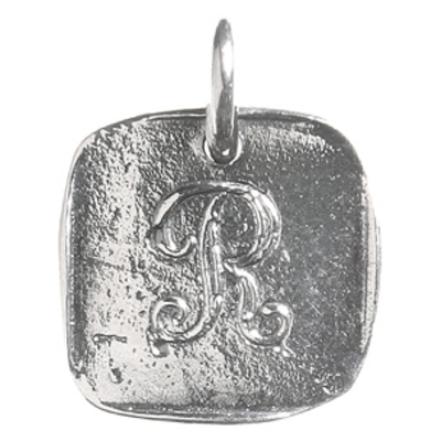 Waxing Poetic Waxing Poetic Baby Insignia Charm- Silver- Letter R