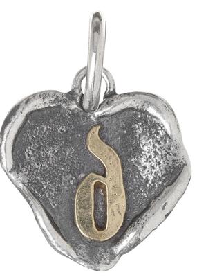 Waxing Poetic Waxing Poetic Heart Insignia-Brass/Silver-D