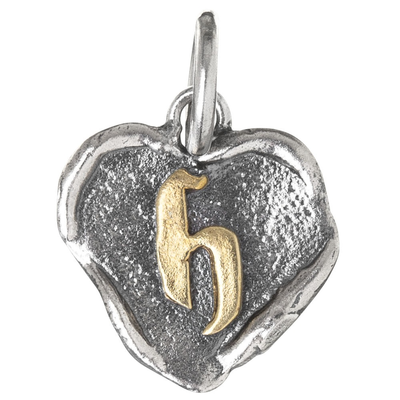 Waxing Poetic Waxing Poetic Heart Insignia-Brass/SIlver-H