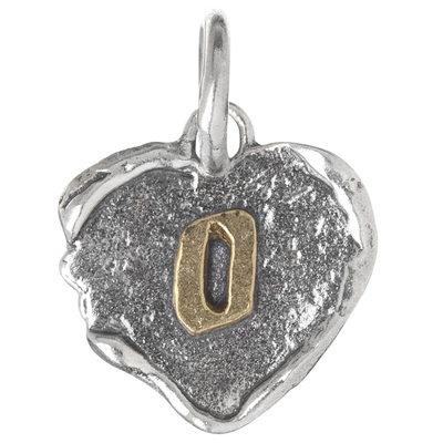 Waxing Poetic Waxing Poetic Heart Insignia-Brass/Silver-O