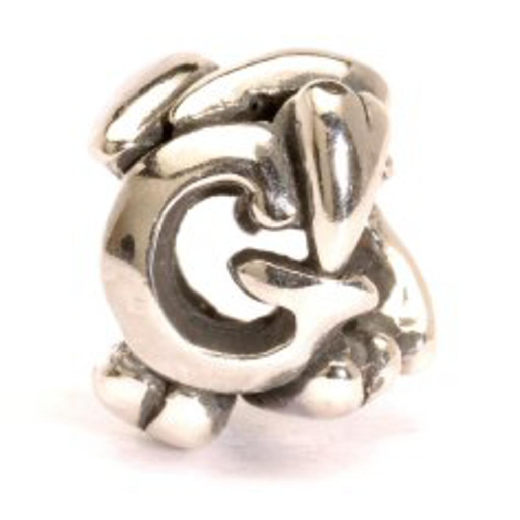 TROLLBEADS - Letter Bead G, Silver