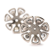 TROLLBEADS - Graphic Flower Earrings