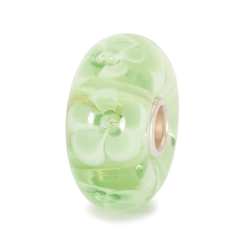 TROLLBEADS - Light Green Flower