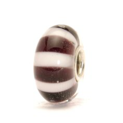TROLLBEADS - Black & White Stripes