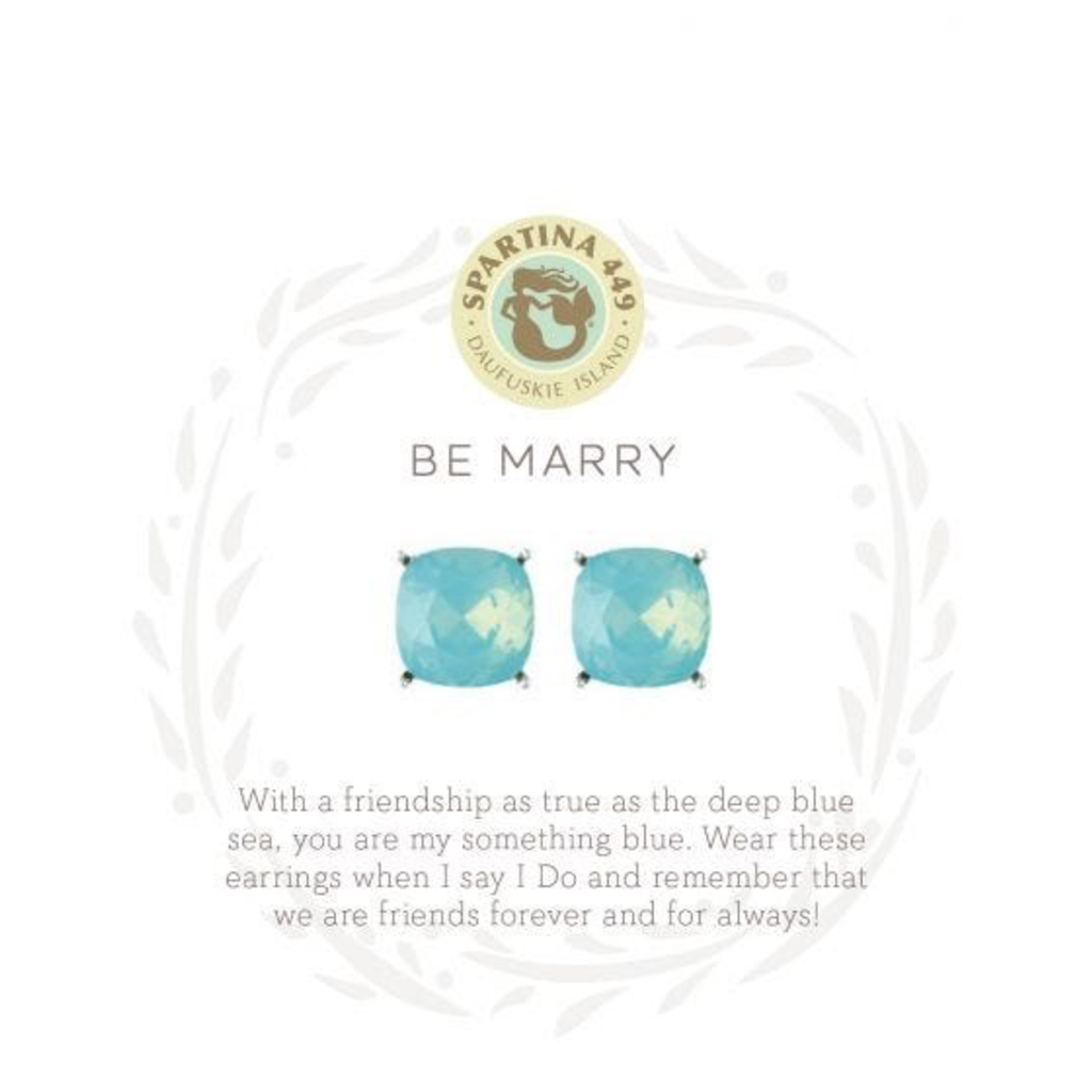 Spartina 449 Sea La Vie Stud Earrings Be Marry/Something Blue