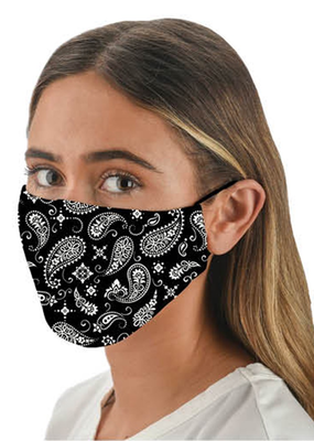 Accessories Snoozies Black Bandana Fashion Face Covering