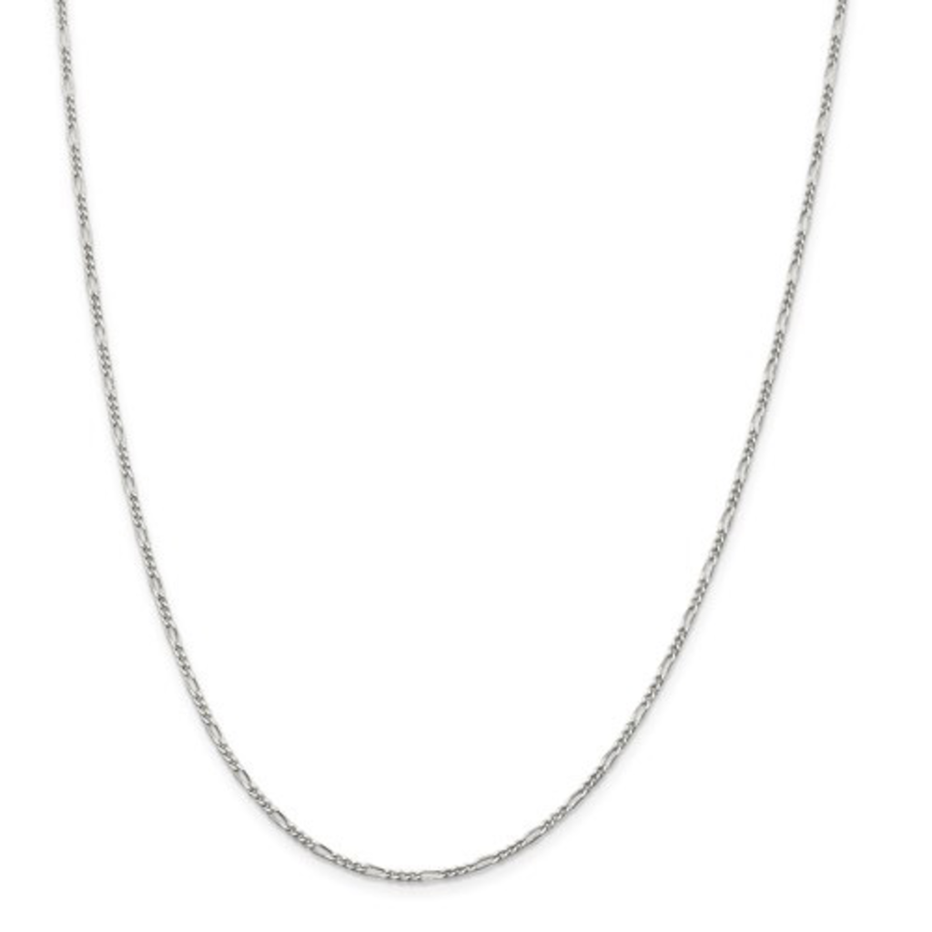 """Sterling Silver 1.75mm Figaro Chain 18"""""""