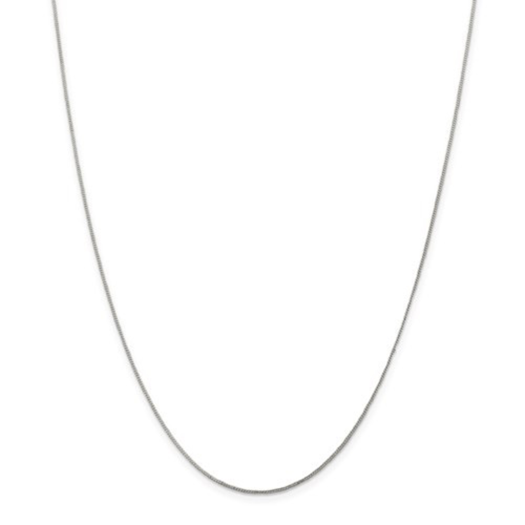 """Sterling Silver .8mm Open Curb Chain 16"""""""