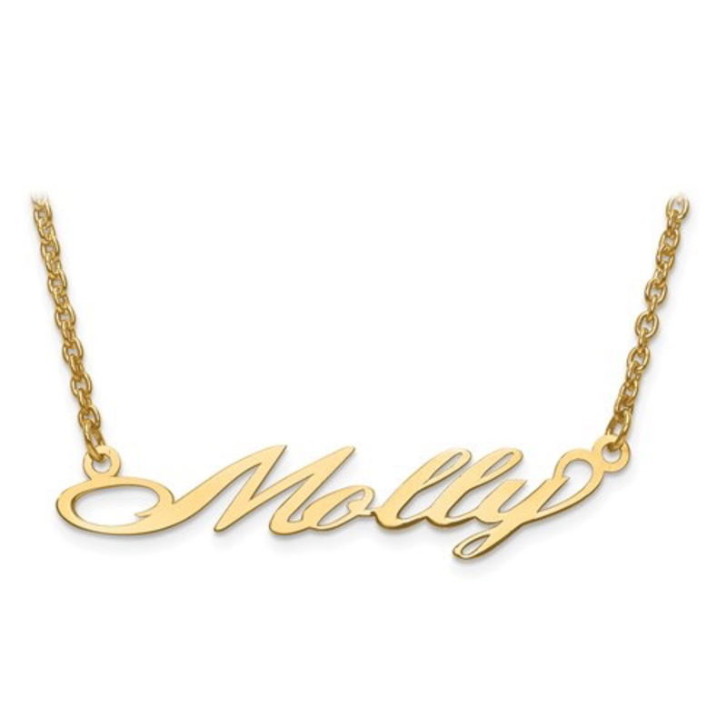 Gold Plated/Sterling Silver Personalized Name Necklace