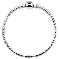 Chamilia Chamilia Terrazzo  Silver Beaded Snap Bracelet (7.5 in.)-