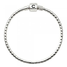 Chamilia Chamilia Terrazzo  Silver Beaded Snap Bracelet (7.1 in.)