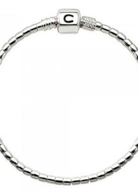 Chamilia Terrazzo  Silver Beaded Snap Bracelet (7.1 in.)