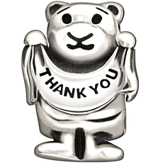 Chamilia Chamilia Sterling Silver - Thank You Beary Much Disc - Retired - Tray 5