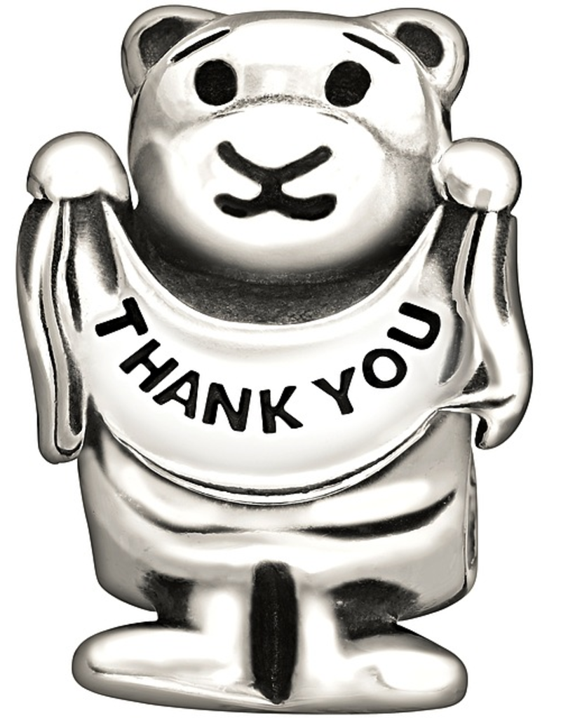 Chamilia Sterling Silver - Thank You Beary Much Disc - Retired - Tray 5