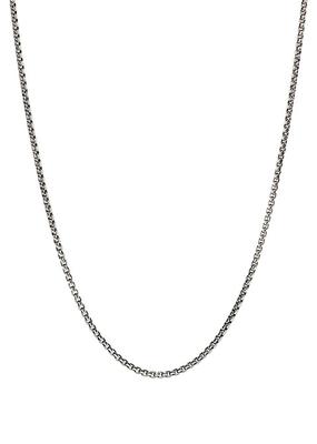 Chamilia Box Chain Oxidized (45.7 cm/18 in)