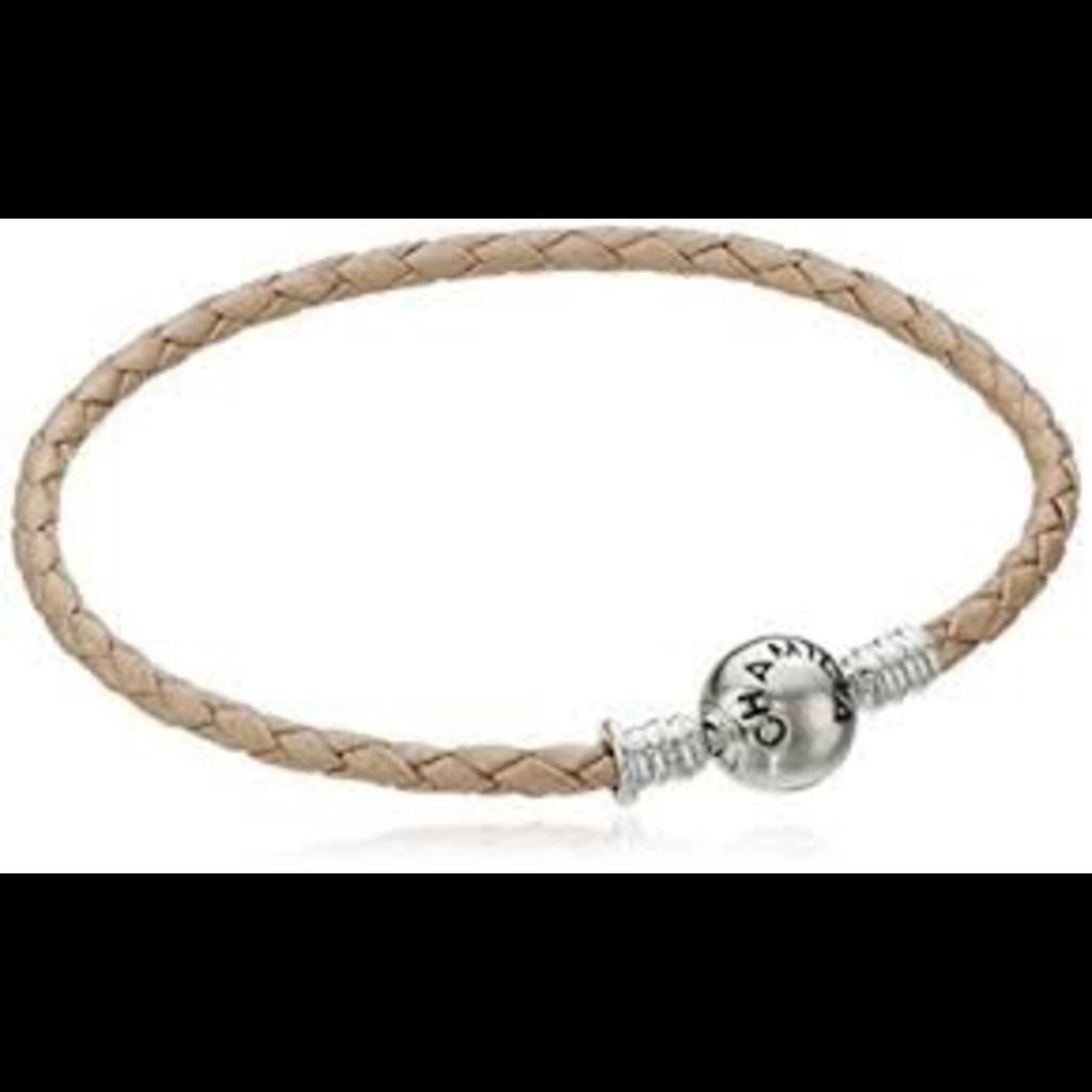 Chamilia Chamilia Braided Blush Leather Bracelet