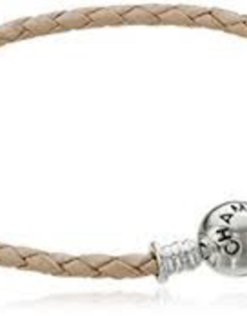 Chamilia Braided Blush Leather Bracelet