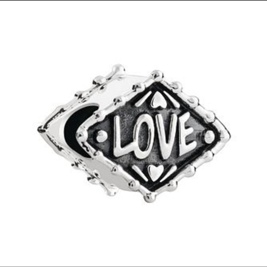 Chamilia Chamilia Neon Heart-Sterling Silver w/ Lt. Ox - Tray 4