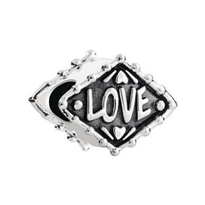 Chamilia Neon Heart-Sterling Silver w/ Lt. Ox - Tray 4