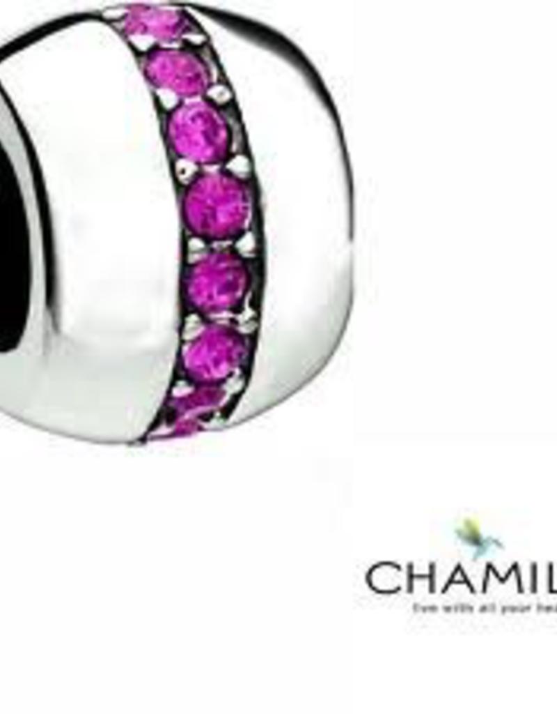 Chamilia Cosmo - Fuchsia Swarovski Disc - Retired - Tray 6