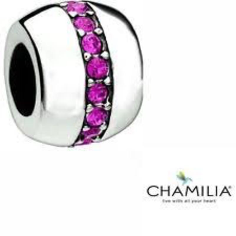 Chamilia Chamilia Cosmo - Fuchsia Swarovski Disc - Retired - Tray 6